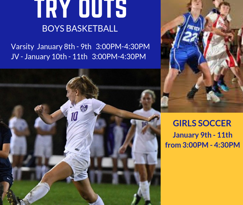 All athletic forms must be turned in prior to tryouts!